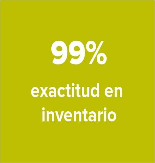 99% exactitud inventarios