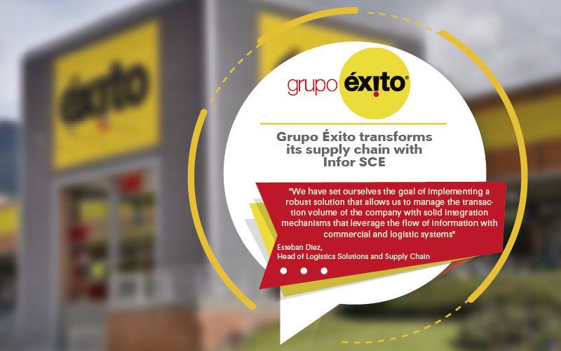 Infor and Cerca Technology Work with Colombian Company, Grupo Éxito for the Implementation of Infor SCE in its Distribution Network in Colombia