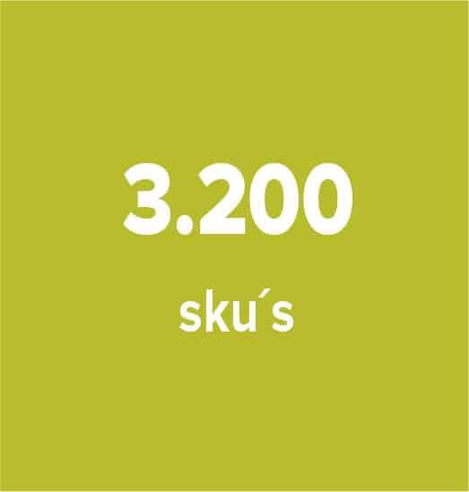 3200 skus
